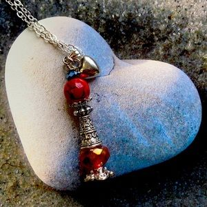 Magic Red Love ❤️ Bottle necklace